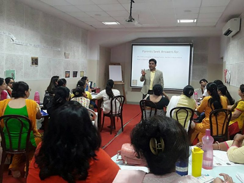 Facilitated training program for Teachers of Eicher Public School, Faridabad